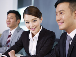 asian business team at a meeting
