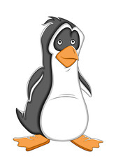 Cartoon Penguin Vector Illustration