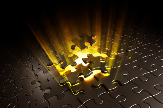 Puzzle exploding