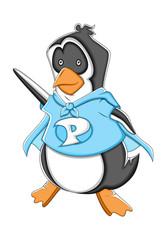 Super Cartoon Penguin Vector Illustration