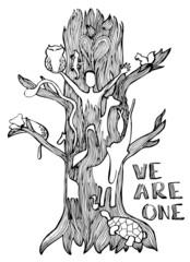 Save nature illustration