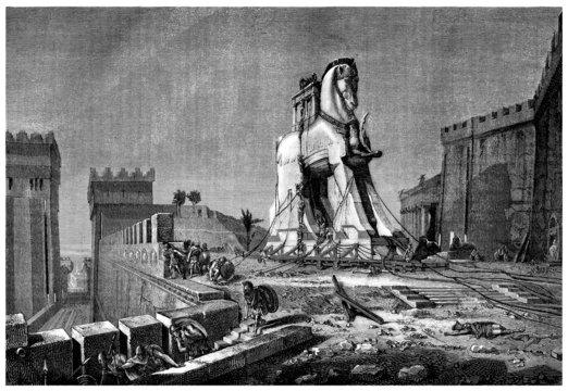 Ancient Greece : Trojan Horse - Cheval de Troie