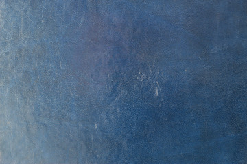 Blue dark leather background or texture