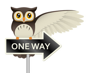 Own On A One Way Sign