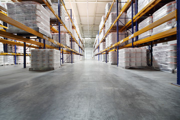 Warehouse of factory