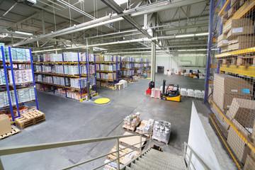 Warehouse at factory