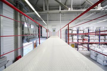 Bridge in warehouse of factory