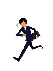 ビジネスマン 遅刻で走る