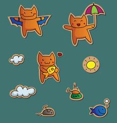 Cute kitties stickers