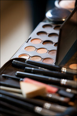 Close up on make-up and cosmetics