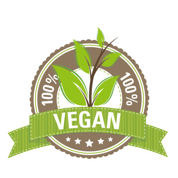 Button: 100 % Vegan