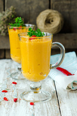 Carrot soup - puree