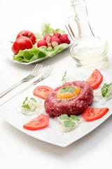 Steak Tartare. Selective focus