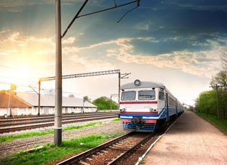 Foto op Canvas Treinstation Modern train