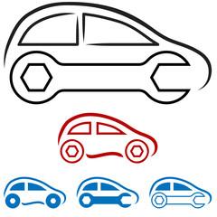 Wall Mural - Autowerkstatt - Logo