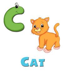 alfabeto, gatto