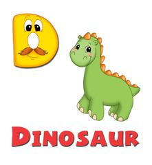 alfabeto, dinosauro