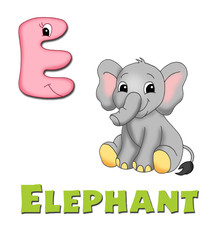 alfabeto, elefante