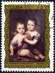 """Two Children"", by Gutierrez de la Vega (1805-65)"