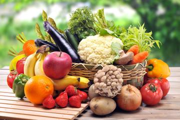 Fotobehang Keuken 野菜とフルーツ