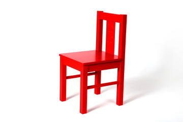 Petite chaise rouge