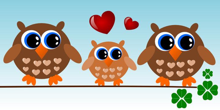 A little owl family