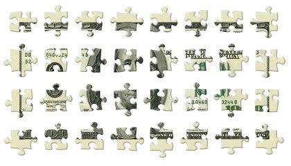 One Hundred Dollar Puzzle Pieces
