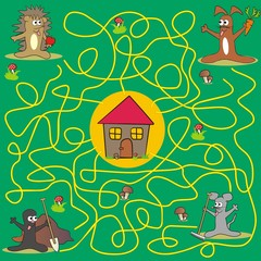 maze - animals