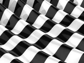 3d Geometric stripes ripple  - A