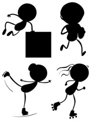 Silhouettes of the different sports
