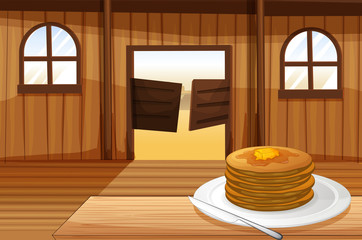A plate with pancakes