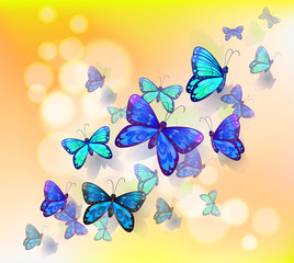 Zelfklevend Fotobehang Vlinders A wallpaper design with butterflies