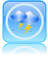 Lightning button - weather icon