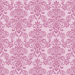 Seamless baroque style damask background