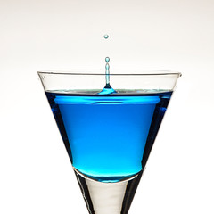 Blue ocktail with droplets