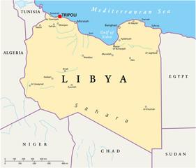 Libya Map (Libyen Landkarte)