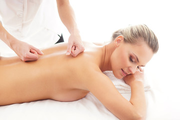 A young attractive woman on a spa procedure