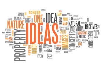 "Word Cloud ""Ideas"""