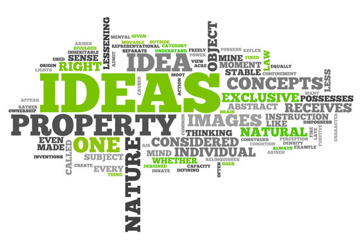 "Word Cloud ""Ideas"""