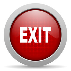 exit red circle web glossy icon