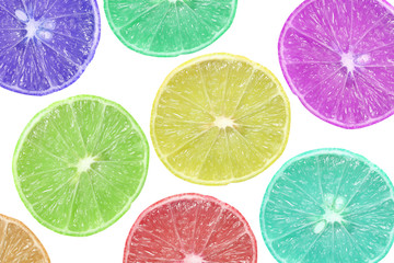 background of slice colorful lime