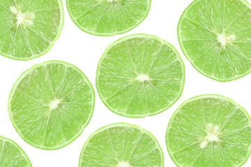 background of slice green lime