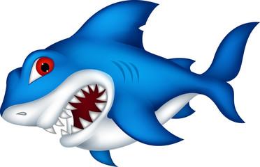 angry shark cartoon