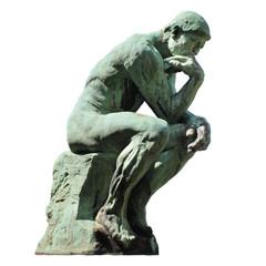 Aluminium Prints Historic monument Le Penseur de Rodin (Laeken - Belgique)