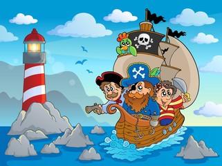 Poster Piraten Lighthouse theme image 6
