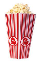 popcorn over white