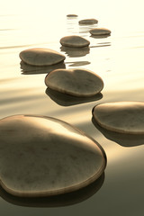 Fototapete - step stones