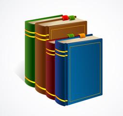 Books shelf icon. Vector Illustration
