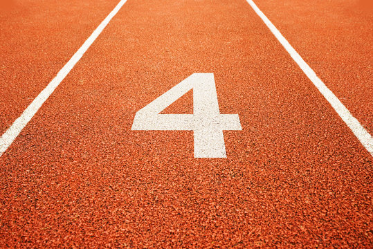 number four on running track