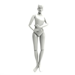 Female Mannequin Isolated On white background